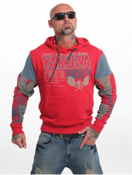 Yakuza Sudadera Fuck Society Two Face rojo