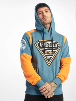 Yakuza Sweat capuche Label Two Face bleu
