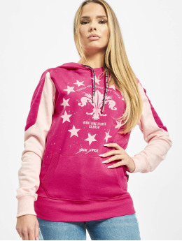 Yakuza Sweat capuche Dot Lily Two Face  magenta