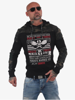 Yakuza Sweat capuche Warning Two Face noir