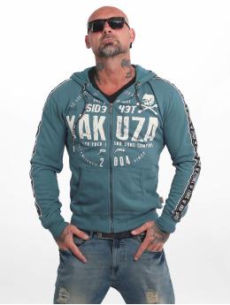 Yakuza Sweat capuche zippé Bad Side bleu