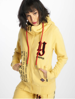 Yakuza Sweat capuche zippé Lil Flying Skull High Neck jaune