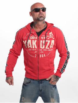 Yakuza Sweat capuche zippé Bad Side rouge