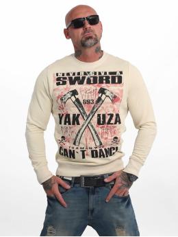 Yakuza Swetry Sword bezowy