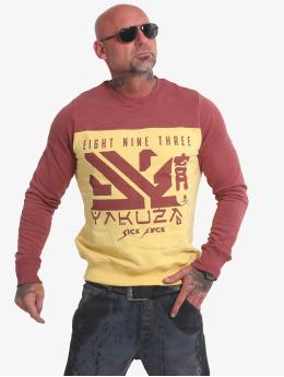 Yakuza Swetry Nippon Two Face zólty
