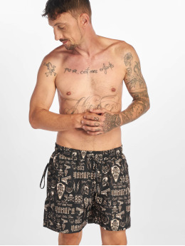 Yakuza Swim shorts Allover Carry gold colored