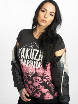 Yakuza T-paidat Warrior V-Neck musta