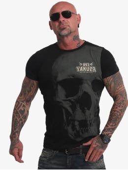 Yakuza T-paidat Cuernos De Chivo Skull musta