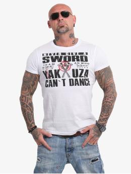 Yakuza T-paidat Sword valkoinen