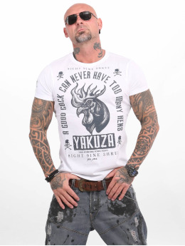 Yakuza T-shirt Good Cock bianco