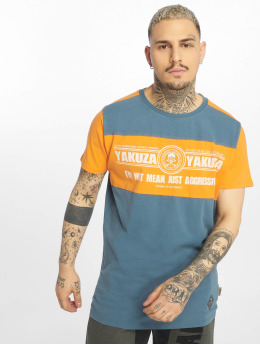 Yakuza T-Shirt Aggressive Two Face blau