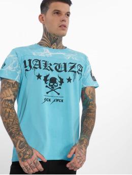 Yakuza t-shirt Marble blauw