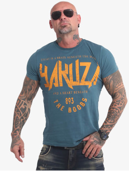 Yakuza t-shirt Boobs  blauw