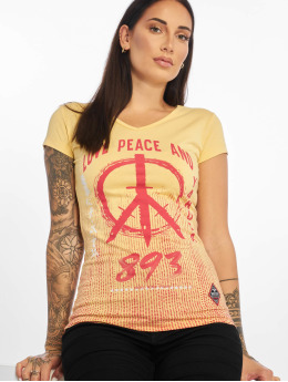 Yakuza t-shirt Love & Peace geel