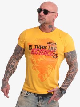 Yakuza t-shirt Life Before geel