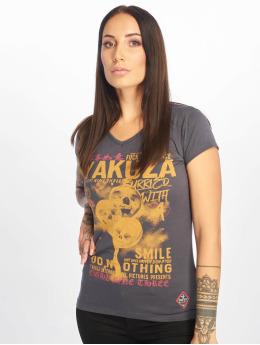 Yakuza T-Shirt Burried V-Neck grau