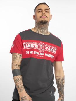 Yakuza T-Shirt Aggressive Two Face grey