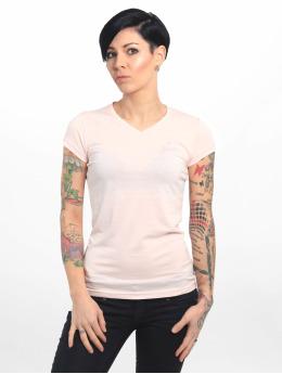 Yakuza T-Shirt Basic Line Script V Neck magenta