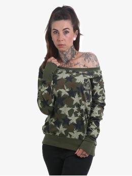 Yakuza T-Shirt manches longues Stars camouflage