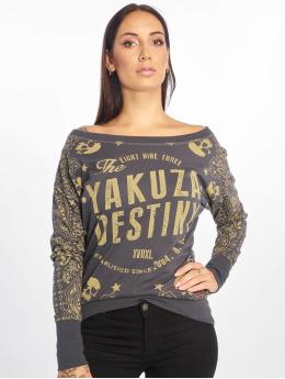 Yakuza T-Shirt manches longues Tijuana Boyfriend gris