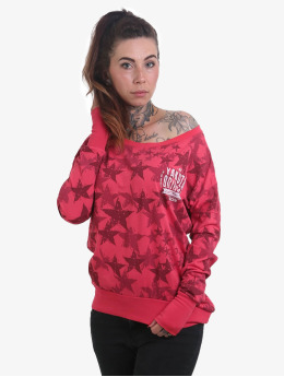 Yakuza T-Shirt manches longues Stars Boyfriend rouge