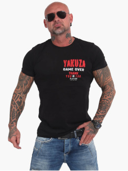 Yakuza T-Shirt Game Over  noir