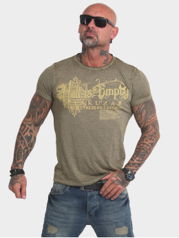 Yakuza T-Shirt Hell Is Empty Burnout olive