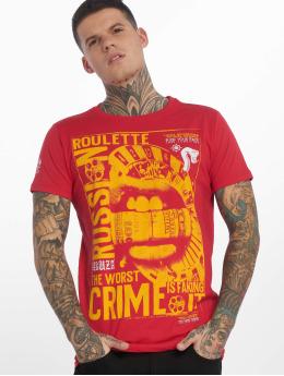 Yakuza t-shirt Russian Roulette rood