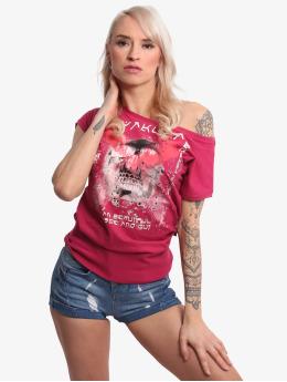Yakuza T-Shirt Wide Crew Neck rouge