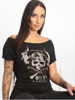 Yakuza T-Shirt Flying Skull schwarz