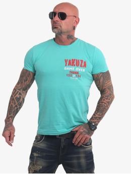 Yakuza T-shirt Game Over turchese