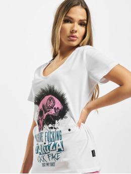 Yakuza T-Shirt Massive V Neck weiß
