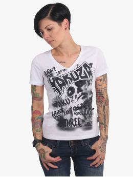 Yakuza T-Shirt Asesinatol V-Neck weiß