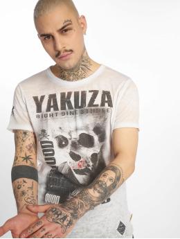 Yakuza T-Shirt Burnout Quod Sumus Hoc Eritis white
