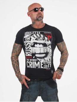 Yakuza t-shirt Russian Roulette zwart