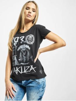 Yakuza t-shirt Wormtongue Boyfriend zwart