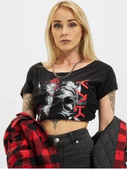 Yakuza t-shirt Respirator V02 Wide Crew zwart