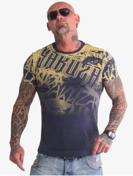 Yakuza T-shirts Life Allover blå