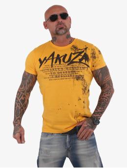 Yakuza T-shirts Destroy A Monster  guld