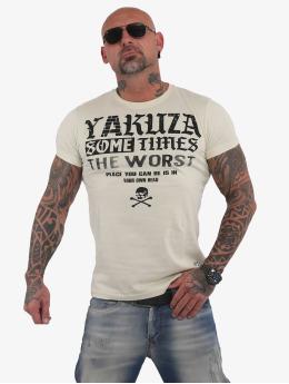 Yakuza T-Shirty Sometimes  bezowy