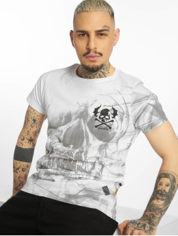 Yakuza T-Shirty Cyber Death bialy