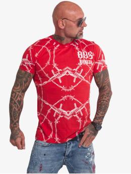 Yakuza T-Shirty Barbwire czerwony