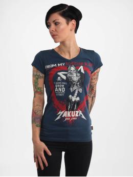 Yakuza T-Shirty Rotting Body V Neck niebieski