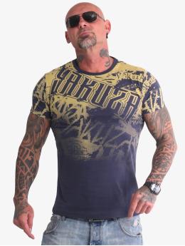 Yakuza T-Shirty Life Allover niebieski