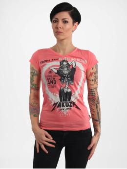 Yakuza T-Shirty Rotting Body V Neck pink