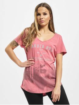 Yakuza T-Shirty Virus V Neck  pink