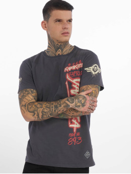 Yakuza T-Shirty Flight No893 szary