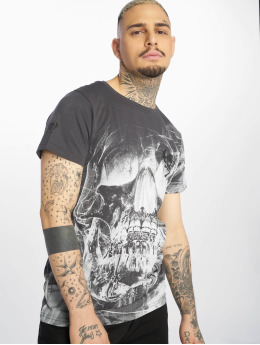 Yakuza T-Shirty Cyber Death szary