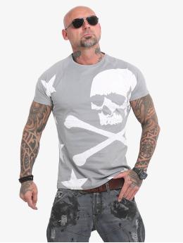 Yakuza T-Shirty Overskulled szary