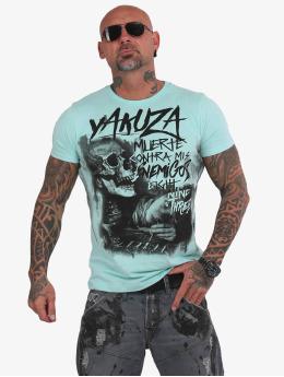 Yakuza T-skjorter Muerte Skull blå